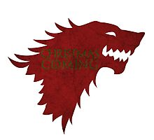 Christmas is Coming - Game of Thrones Stark Banner Photographic Print