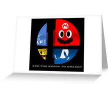 Are Ready to Smash? (Silhouette Var.) Greeting Card