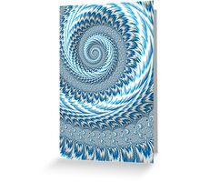 Sky Blue Abstract Greeting Card