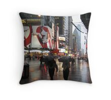 Synchronised umbrellas Throw Pillow