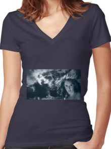 March - Nature & Humanity Women's Fitted V-Neck T-Shirt