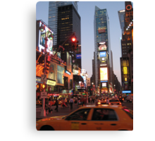 Times Square overload Canvas Print