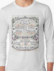 Wedding Invitation Labels and Banners Long Sleeve T-Shirt