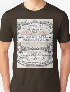 Wedding Invitation Labels and Banners T-Shirt