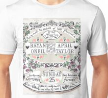 Wedding Invitation Labels and Banners Unisex T-Shirt