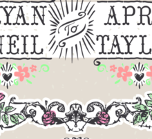 Wedding Invitation Labels and Banners Sticker