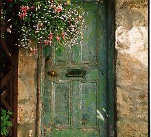Old Green Door by Clare McClelland
