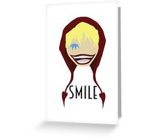 """Corazon Full Toothed """"Smile"""" Greeting Card"""
