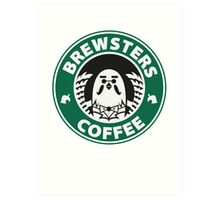 Brewsters Coffee Art Print