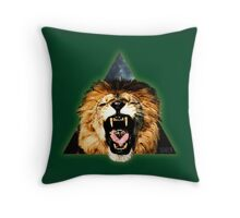 Lion Triangle Throw Pillow