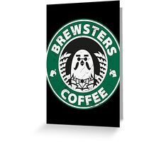 Brewsters Coffee (distressed) Greeting Card