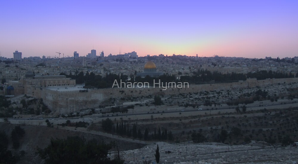 jerusalem sunset by Aharon Hyman