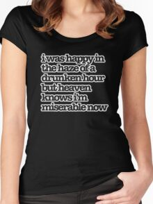 The Smiths Song Lyrics Women's Fitted Scoop T-Shirt
