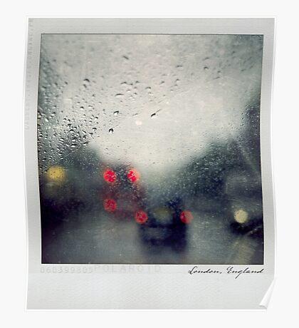 Rain Polaroïd Poster