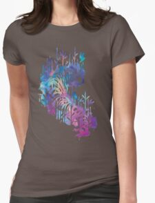 Watercolor tiger Womens Fitted T-Shirt