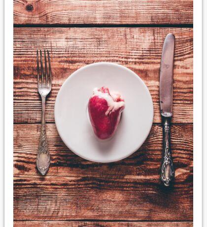 Heart on White Plate Sticker