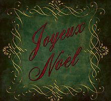 Joyeux Noel In Green And Red by Caitlyn Grasso