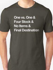 Super Smash Bros Pro Rules - Helvetica  T-Shirt