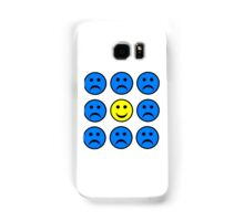 Happy Smiley in a Crowd of Unhappy Faces Samsung Galaxy Case/Skin