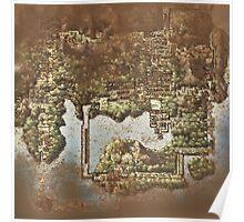 Distressed Maps: Pokemon Kanto Poster