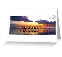 Camels at Sunset, Cable Beach, Broome Greeting Card