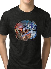 Groudon VS Kyogre - Primal Hoenn Battle Tri-blend T-Shirt