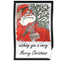 Wishing You A Very Merry Christmas Greeting Card Poster