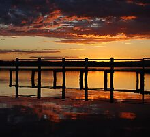 Sunset Jetty by Oliver Higgins
