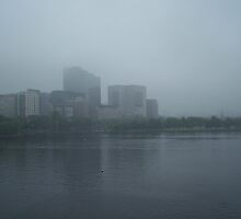 Boston in fog by missliz