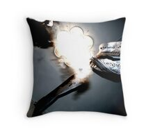 smokin' zen Throw Pillow