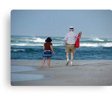 Boomer Beach Walk Canvas Print