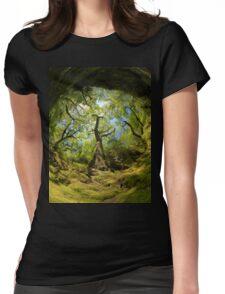 Ness Glen, Mystical Irish Wood Womens Fitted T-Shirt