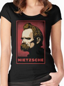 Nietzsche Print Women's Fitted Scoop T-Shirt