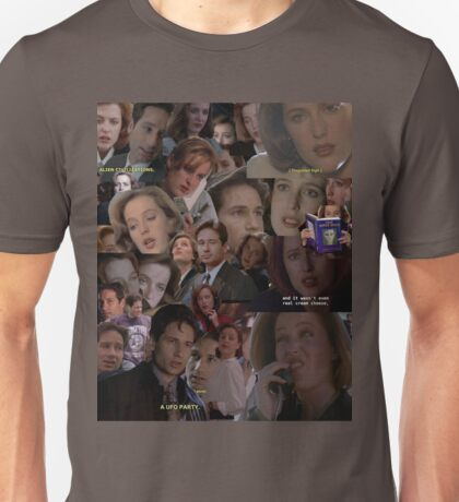 X-Files / Mulder and Scully Collage Unisex T-Shirt