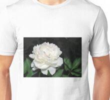 One White Peony Unisex T-Shirt