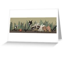 Don't Starve and Don't Die Greeting Card