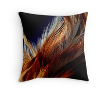 Honey Dust Feathers Throw Pillow