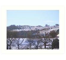 Derbyshire winter Art Print
