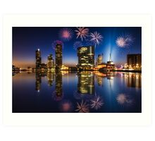 New Years eve fireworks - Rotterdam Art Print
