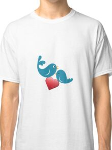 Beautiful birdie in love with heart Classic T-Shirt
