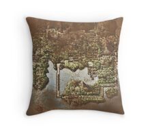 Distressed Maps: Pokemon Kanto Throw Pillow