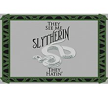 They See Me Slytherin Photographic Print