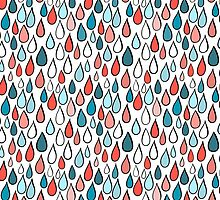 Rainy day colorful pattern by HelgaScand