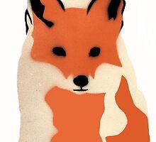 Winter fox by brambles