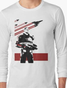 N7- Commander Shepard (Male) Long Sleeve T-Shirt