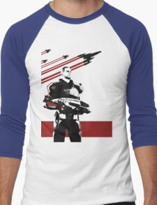 N7- Commander Shepard (Male) Men's Baseball ¾ T-Shirt