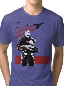 N7- Commander Shepard (Male) Tri-blend T-Shirt