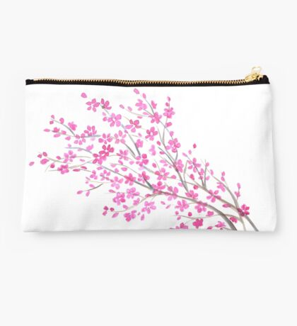 Sakura watercolor on white background Studio Pouch