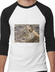 Portrait of a Lioness Men's Baseball ¾ T-Shirt