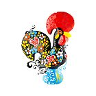 Symbols of Portugal - floral Rooster by silvianeto